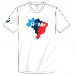 Camiseta BeeMer - Mapa Brasil - Branca