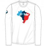 Camiseta BeeMer - Mapa Brasil - Branca/longa