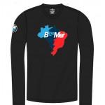 Camiseta BeeMer - Mapa Brasil - Preta/longa